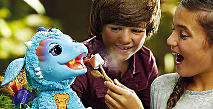 FurReal Friends Torch My Blazin Dragon-giving-treat