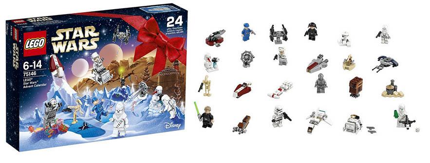 LEGO Star Wars 75146 Advent Calendar Building Kit mini figurines box