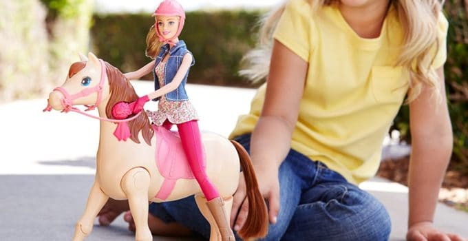 kid play barbie horse games