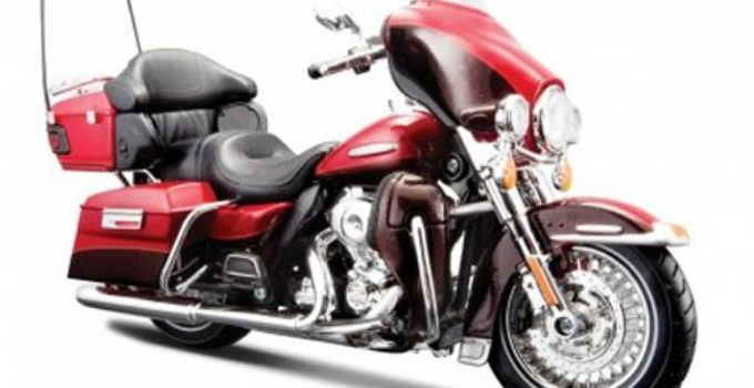 2013 Harley Davidson FLHTK Electra Glide Ultra Limited Red Bike Motorcycle 1/12 by Maisto 32323