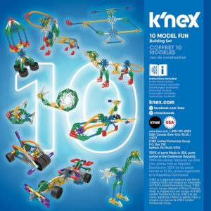 KNEX 10 Model Building Fun Set 126 Pieces Ages 7+ Engineering Education Toy review