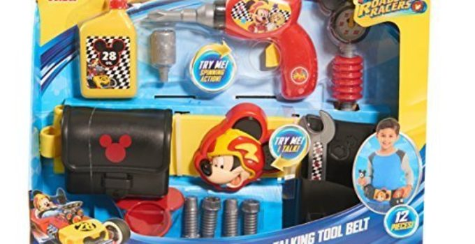 Just Play Boys Mickey Roadster Racers Talking Toolbelt