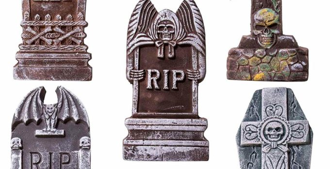 OYIN Halloween Decorations RIP Graveyard Tombstones