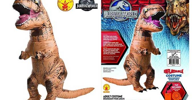 Rubies Adult Jurassic World Inflatable Dinosaur Costume