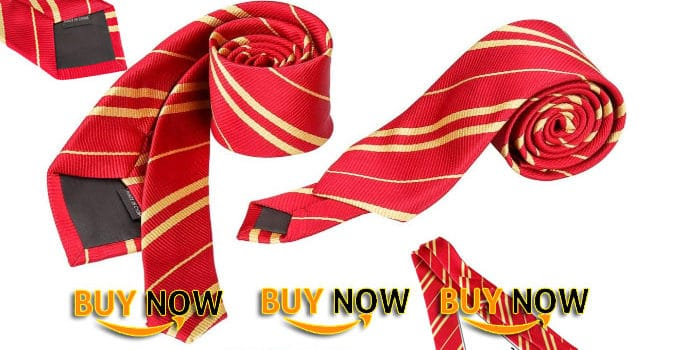 Yc Harry Potter Gryffindor Tie School Party Costume Accessory