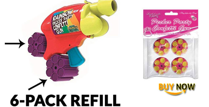 Buy Pecker Party Confetti Gun Refill Cartridges 6 Shot Refill