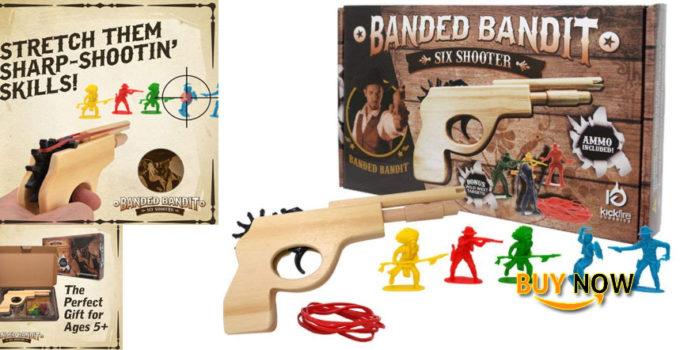 Find The Best Banded Bandit Six Shooter Rubber Band Gun Set