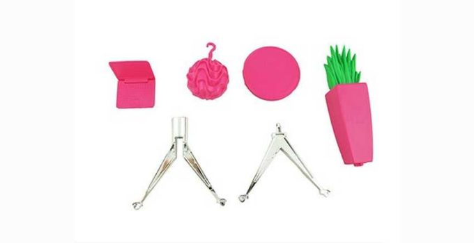 Barbie Hello Dreamhouse-Replacement Accessory Bag 9 Pink Laptop, Pink Chandelier Review