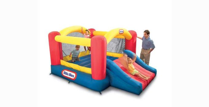 Little Tikes Inflatable Jump n Slide Bounce House heavy duty blower review