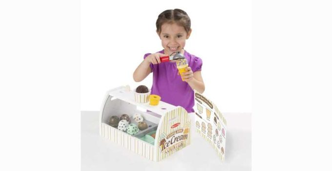 Melissa and Doug Wooden Scoop and Serve Ice Cream Counter Cool Toys Review