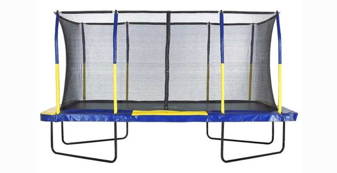 Upper Bounce Easy Assemble Spacious Rectangular Trampoline with Fiber Flex Enclosure Feature Review