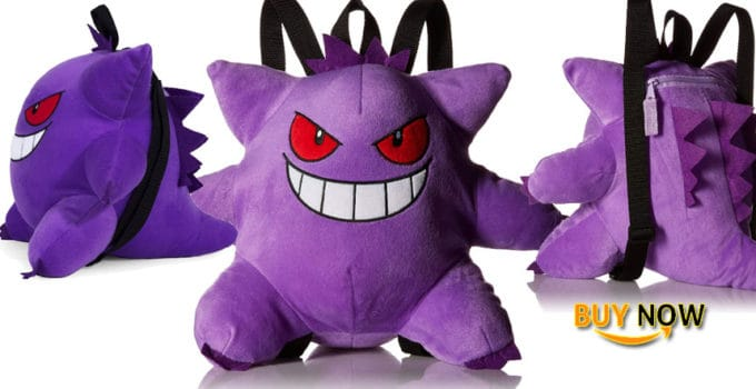 Cool Pokemon Gangar Plush Backpack
