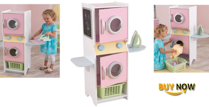 KidKraft Washer and Dryer Laundry Playset with 2 Storage Shelves