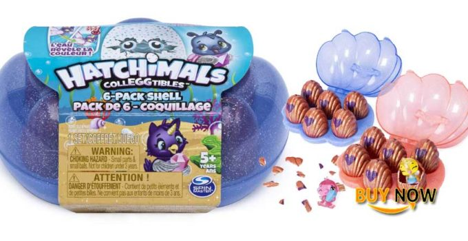 Special Hatchimals CollEGGtibles, Mermal Magic 6 Pack Shell Carrying Case