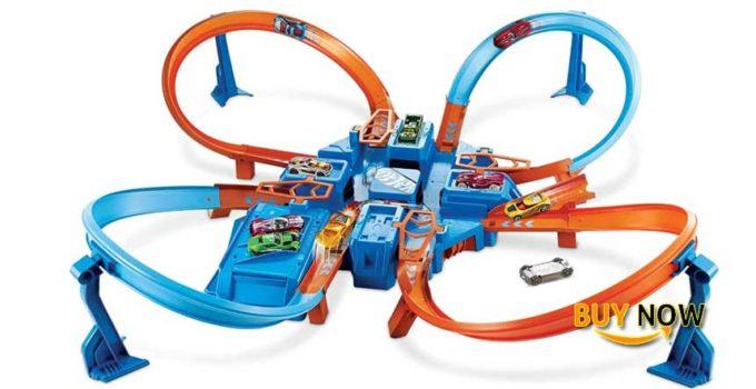 Best HotWheels Games Track Builder: Hot Wheels Criss Cross Crash Track Set