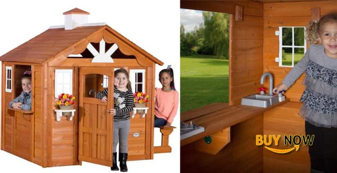 Cool Backyard Discovery Summer Cottage All Cedar Wood Playhouse Review