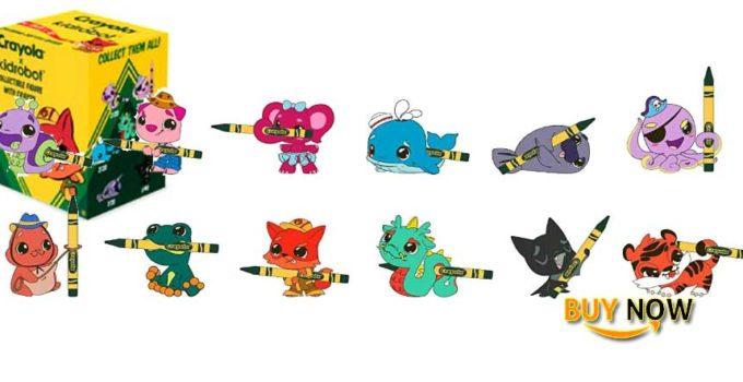 One Blind Box Coloring Critter Vinyl Mini Series Figure by Crayola X Kidrobot