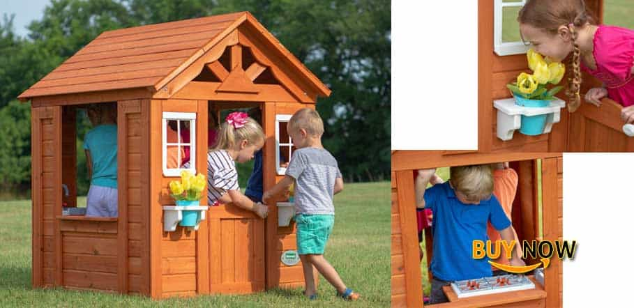 Backyard Discovery Timberlake All Cedar Wood Playhouse Review